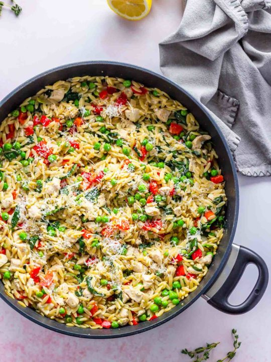 Lemon Orzo with Chicken and Parmesan