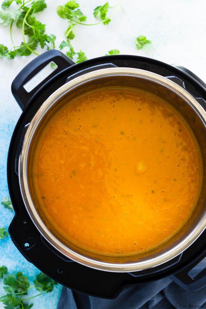 instant pot thai pumpkin soup