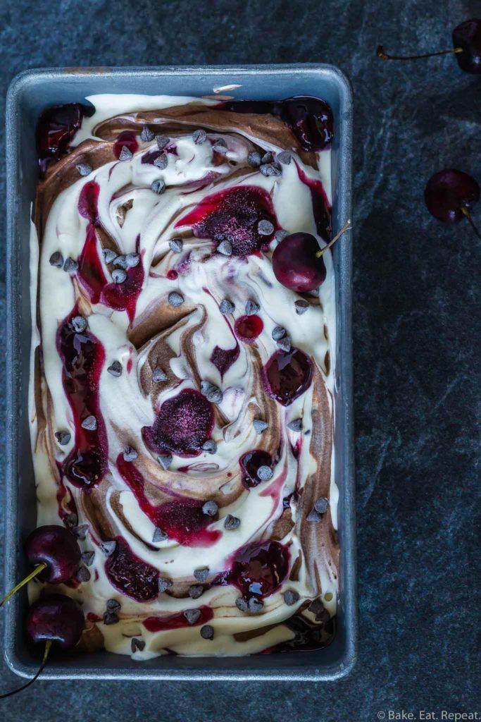 no churn chocolate cherry ice cream