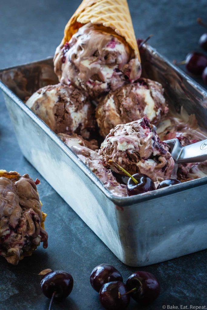no churn black forest ice cream